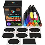 Best unknown Whiteboard Markers - Artistic Vista Liquid Chalk Markers. JUMBO 20 PACK Review