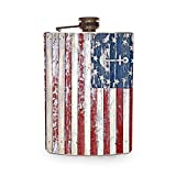 Best Man Flask Woods - American Flag Nautical Flask 8oz Stainless Steel Hip Review