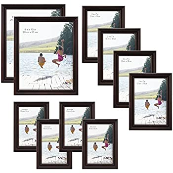 7 Piece Wall Frame, Top-Rated Set - Includes: 11x14 Inch with 8x10 ...