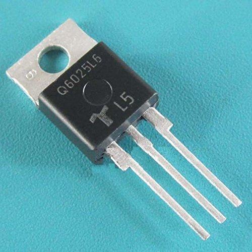 Exiron 5PCS NEW Q6025L6 TRIAC ALTERNISTOR 600V 25A TO-220