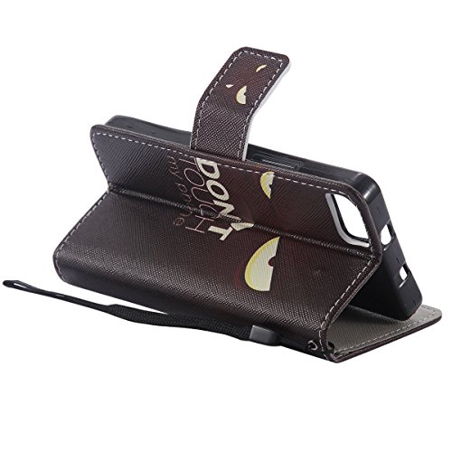 Funda para BQ Aquaris M4.5, SMART LEGEND Funda de PU cuero resistente, Ultra Slim PU Cuero Folding Stand Flip Funda Carcasa Caso,Diseño de Mariposa y flor, Leather Case Wallet Protector Card Holders,  Dont Touch My Phone