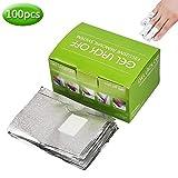 Nail Polish Remover Gel Remover Wraps Soak Off Gel Remover Foils Nail Wraps with Cotton Pad (100pcs)