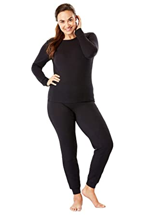 4fb1cb95d1b Comfort Choice Women s Plus Size Thermal Long Sleeve Tee at Amazon ...