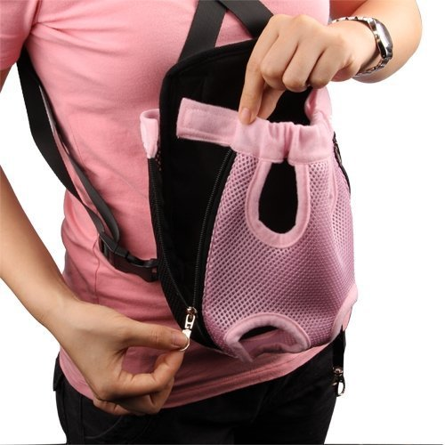 UDTEE Fashionable/Practicle/Durable Large Size Pink Color Dacron Mesh/Net Pet Legs Out Travel Front Backpack/Carrier/Bag For Pet Dog/Cat
