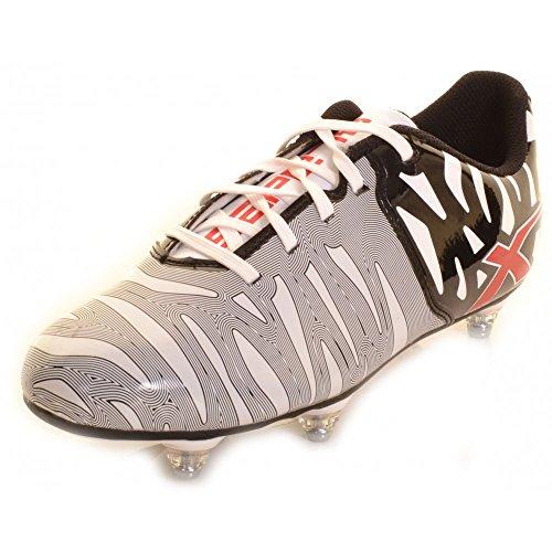 XBlades Wild Thing 6 Tacchetti Scarpe Da Rugby bianco e nero