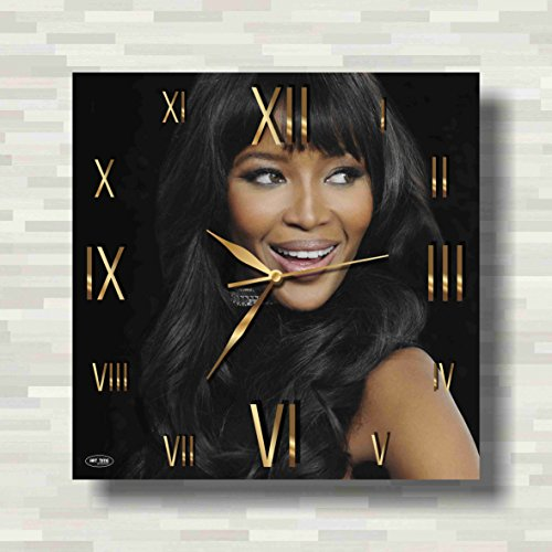 Naomi Elaine Campbell 11'' Handmade Wall Clock - Get unique décor for home or office – Best gift ideas for kids, friends, parents and your soul (Elaine Wall Clock)