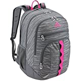 adidas Prime III Backpack, Onix Looper Print/Onix Grey/Shock Pink, One Size