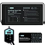 VIVOHOME 10''x20.75'' Seedling Heat Mat and Digital Thermostat Controller Combo Set