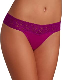 product image for hanky panky Organic Cotton Original Rise Thong, One Size, Boysenberry
