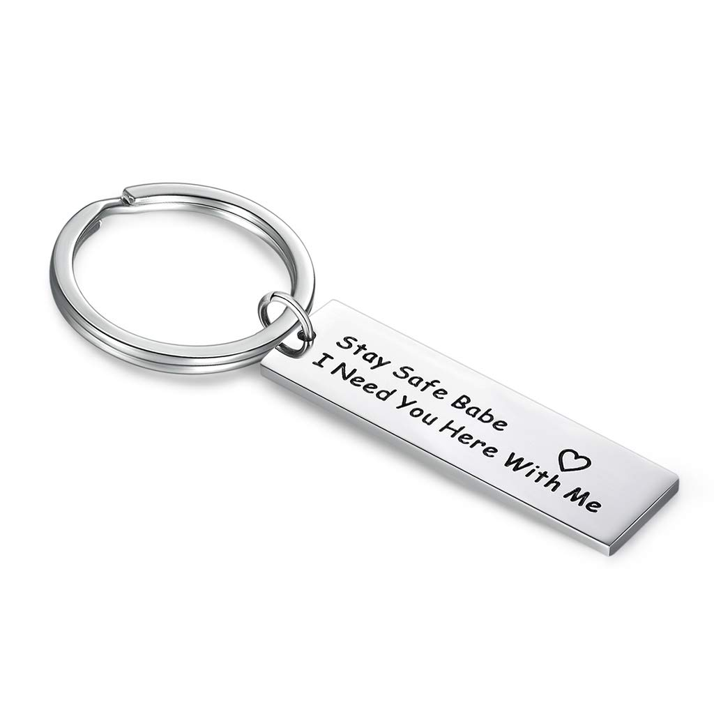KOORASY Birthday Gifts for Daughter Son from Mother Drive Safe Keychains Mother Daughter Gifts from Mom//Dad