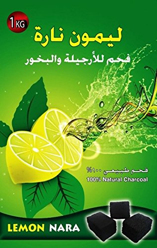 1Kg Lemon Nara Charcoal Coco Coconut Charcoal Hookah Shisha Nargila Coal by Lemon Nara