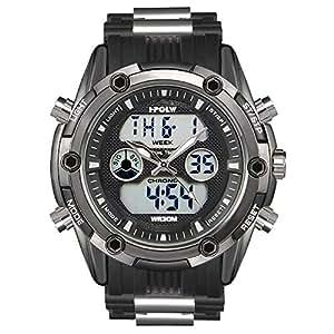 Reloj Deportivo analógico Digital Resistente al Agua para Hombre, cronógrafo Militar, Correa de Silicona