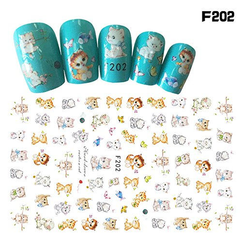 Autumn Leaf Pattern (1pc DIY Nail Water Decal Sticker Cartoon Style Ladybug Warm Autumn Theme Maple Leaf Flower Series 3D Floral Pattern Transfer Stickers 10 designs (Ju259))