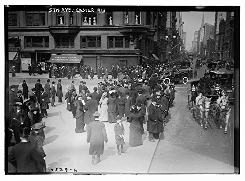 1913 Photo 5th Ave. - Easter, 1913 Fifth Avenue, New York City on Easter day, March 23, 1913. (Source: Flickr Commons project, - On York Stores New City In Avenue 5th