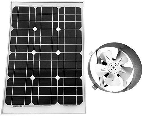 Amtrak Solar's Powerful 40-Watt Galvanized Steel Solar Attic Fan Quietly Cools your House Ventilates your house, garage or RV and protects against moisture (Solar Power Shed)