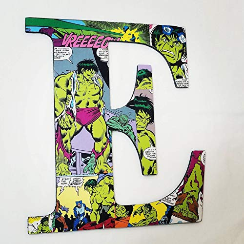 Incredible Hulk, wall letters, nursery letters, wooden letters, custom letters, superhero decor, avengers, comics, kids names, kids ()