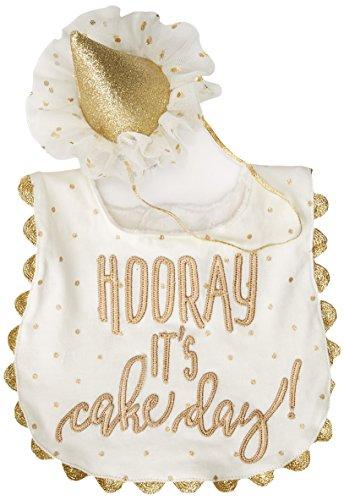 - Mud Pie Baby Cake Smashing Set-Bib and Crown Headband, One Size
