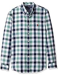 Men's Classic Fit Stripe, Plaid Or Print Long Sleeve...
