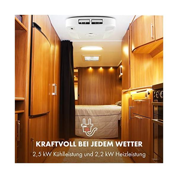 51iVjD1VERL Klarstein Klimamobil - Wohnmobil-Klimaanlage, Split-Klimaanlage, zum Kühlen, Heizen und Entfeuchten, 2,5kW Kühl- und 2…