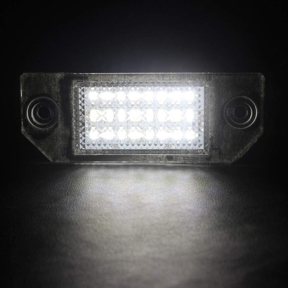 MK2 2003-2008 1 paio di luce targa LED Super luminoso Sostituzione della luce targa per F-ord Focus C-MAX 2003-2010 senza errori