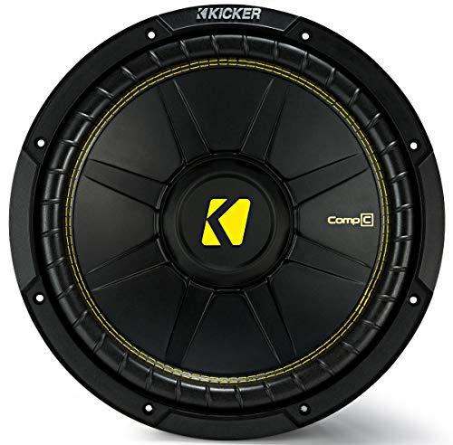 Single-12-Kicker-CompC-Sub-Package-with-Kicker-46CXA4001-Amp-Vented-Enclosure