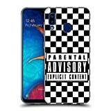 Official Parental Advisory Checkered Urban Street Style Soft Gel Case Compatible for Samsung Galaxy A20 / A30 (2019)