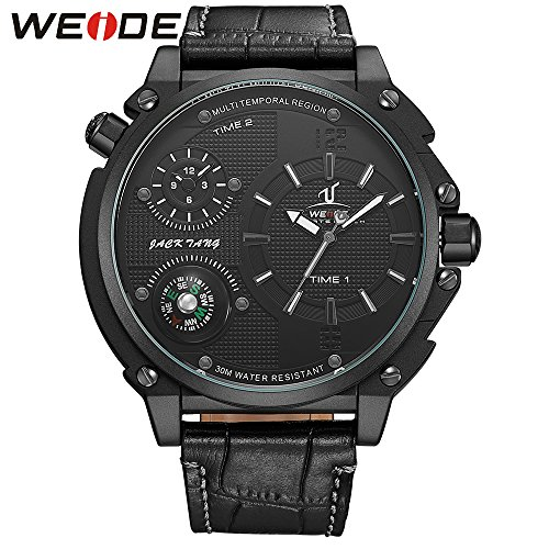 Compass Quartz Stainless Leather Waterproof