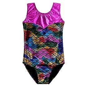- 51iVk1hty3L - Girls Gymnastics Leotard Sparkle Scale Fancy Shiny