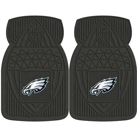 NFL 4-Piece Front #36572636 and Rear #19888902 Heavy-Duty Vinyl Car Mat Set, Philadelphia Eagles by Sports Licensing Solutions LLC