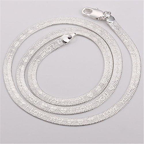 4a08154364d9 Bisutería NYKKOLA caliente 925 Sterling chapado en plata Mujer para hombre collar  cadena de serpiente 70