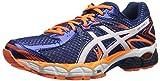 ASICS Men's Gel-Flux 2 Running Shoe, Navy/White/Hot Orange, 10 M US