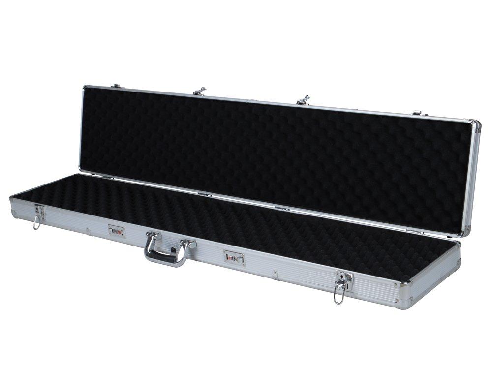 TMS 53'' Long Aluminum Locking Rifle Gun Case Shotgun Storage Box Carry Case w/Keys