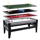 MD Sports Lancaster 4 in 1 Air Hockey Pool Ping Pong Football Swivel Game Table