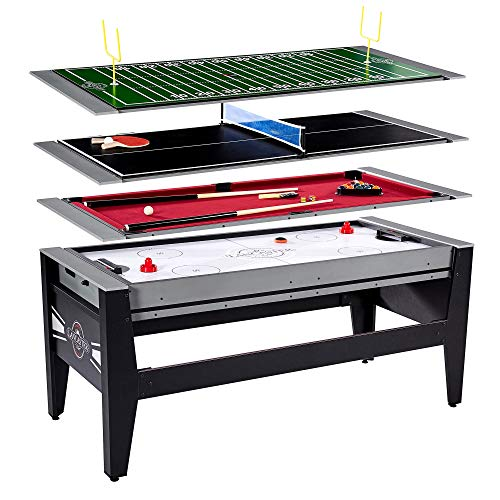 (Lancaster Gaming 4 in 1 Table w/ Air Hockey, Billiards, Table Tennis, & Football)