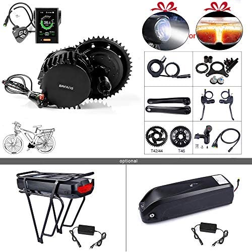 BAFANG BBSHD BBS03 48 52V 1000W Mid Motor Ebike Conversion Kit with Large Capacity Lithium Battery and Charger DIY Electric Bike Motor Kit