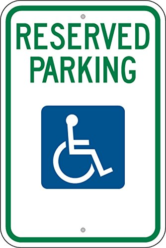 (Highway Traffic Supply Federal Handicap Parking Sign (R7-8) 3M Prismatic Engineer Grade Reflective)