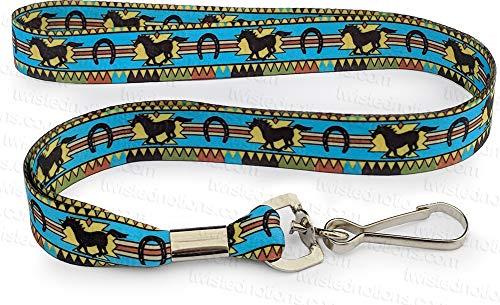 Men's Indoor / Outdoor Western Horse Lanyard - Mustang Neck Lanyard for Key or Badge ID Holder