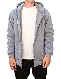 "<span class=""a-offscreen"">[Sponsored]</span>Jacket For Men Fleece Lined Zip Up Hoodie Big & Tall Heavy Sherpa Winter Sweater Jacket"