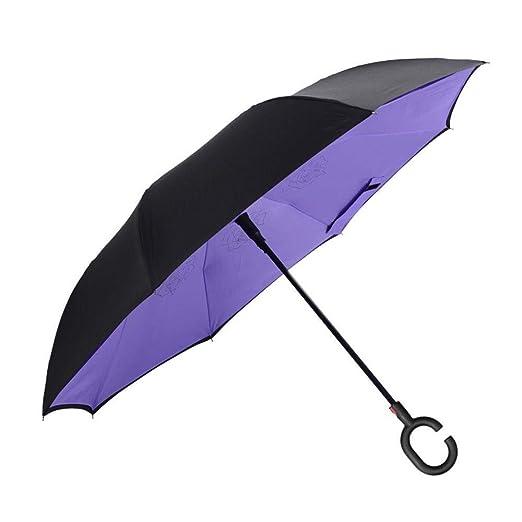 PZXY Paraguas Plegable Auto Creativo contra Hueso del tirón ...