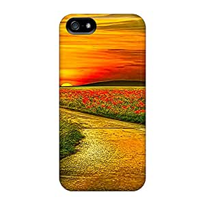 Shock-dirt Proof Sunset 15 Case Cover For Iphone 5/5s