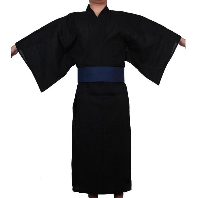 Fancy Pumpkin Kimono japonés de Yukata japonés para Hombres Vestido de Pijamas de Tocado español para