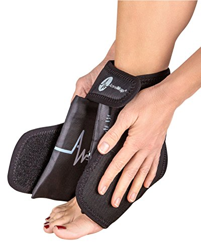 ActiveWrap Foot/Ankle Ice and Heat Wrap Right/Left Foot, S/M Black