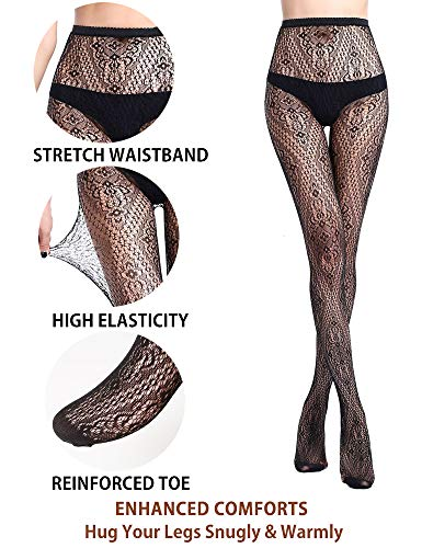 df4fbd3fb VERO MONTE 4 Styles Women Fishnet Tights Patterned Fishnets Stockings Small  Hole