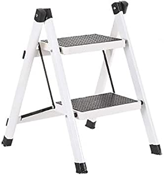 Escalera - Paso De Heces - Escalera Casa Plegable Portátil, Escalera De Tijera De Doble Uso, Patas De La Escalera De Dos Pasos, Escalera, Escalera Plegable (Color : White): Amazon.es: Bricolaje y herramientas