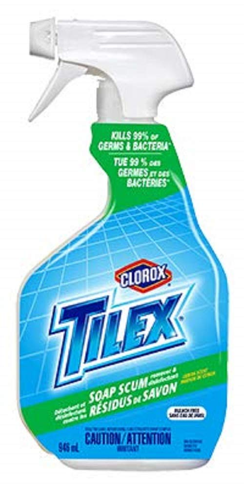 Tilex Bathroom Cleaner | Soap Scum Remover and Disinfectant - 32 Oz (Pack of 4)
