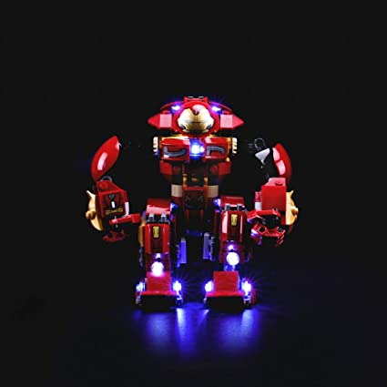 Amazon Com Lightailing Light Set For Marvel Super Heroes Avengers Infinity War The Hulkbuster Smash Up Building Blocks Model Led Light Kit Compatible With Lego 76104 Not Included The Model Toys Games