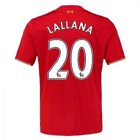 6cbf275c4 2015-16 Liverpool Home Football Soccer T-Shirt Jersey (Adam Lallana 20)