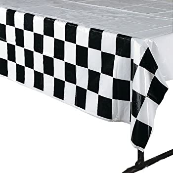 Beautiful 4 Pack Black U0026 White Checkered Tablecloth Race Party Supplies Racing Table  Cover