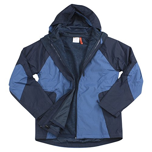 - Champion Men's Technical Ripstop 3-in-1 System with Sweater Fleece Inner Shell Jacket, Sea Bottom Blue, X-Large