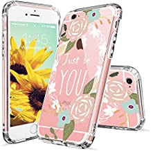 iPhone 6s Case, Clear iPhone 6 Case, MOSNOVO Floral Flower Quote Clear Design Printed Transparent Back Case with TPU Bumper [Shock Absorption] Cover for Apple iPhone 6/6s (4.7 Inch) - Just Be You